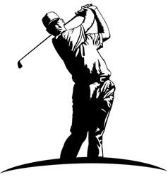 Dr00074 golfer vector
