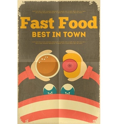 Hot dog and coffee vector