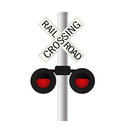 Railroad crossing sign vector image