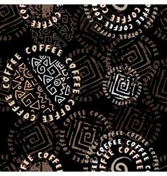 Coffee background ethnic vector