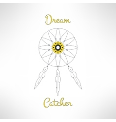 Dream catrcher ethnic background indian vector