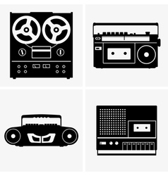 Tape recorders vector