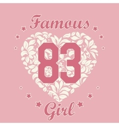 Girl t-shirt design vector