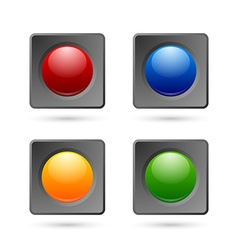 Icon or button backgrounds vector