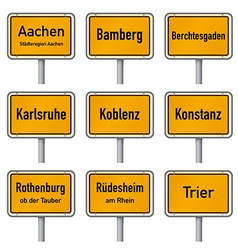Germany tourism highlights city limits sign vector