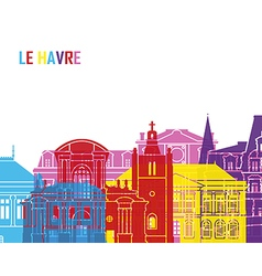 Le havre skyline pop vector