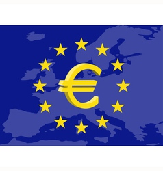 Euro currency vector image