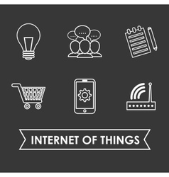 Internet of things online icon flat vector