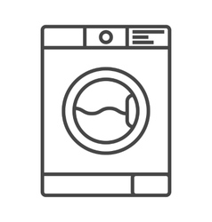 Washing machine icon outline vector