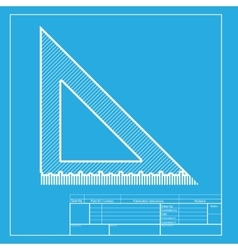 Ruler sign  white section of icon on vector