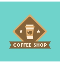 flat icon on background Coffee shop logo vector image