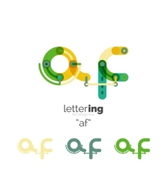 Alphabet letter font logo business icon vector