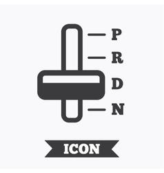 Automatic transmission sign icon auto control vector