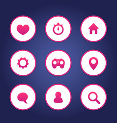 basic web icons set vector image vector image