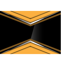 black glossy in yellow silver arrow design vector image vector image