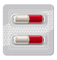 Capsule pills icon cartoon style vector