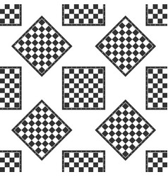 Chess board icon seamless pattern on white vector