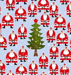 Christmas pattern Santa Claus and Christmas tree vector image vector image