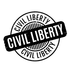 Civil liberty rubber stamp vector