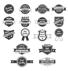 Collection of product price labels vector image vector image