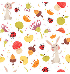 Cute autumn seamless pattern vector