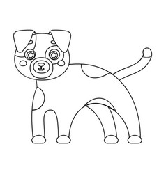 Dog single icon in outline styledog vector