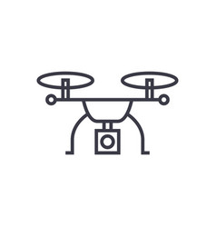 drone logistics concept thin line icon vector image