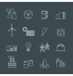 Energy power industry design elements vector image vector image