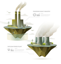 factory and power plant vector image vector image