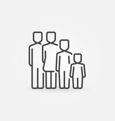 family concept icon vector image vector image