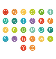 Funny english alphabet vector