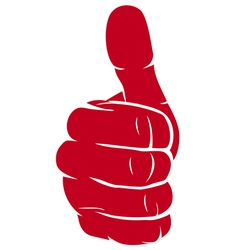 Hand showing thumbs up vector