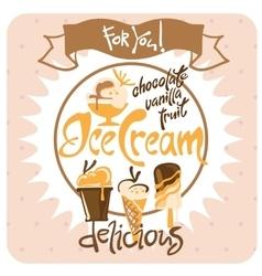 Ice cream poster vector
