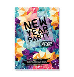 New year party flyer poster template vector