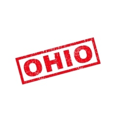 Ohio rubber stamp vector