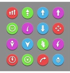 Plain round arrow icons eps10 vector
