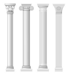 set classical columns vector image vector image