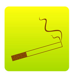 smoke icon great for any use brown icon vector image vector image