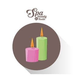 spa beauty and health aroma candles brown vector image vector image