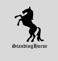 Standing horse logo vector
