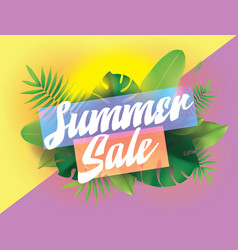 summer sale background for posters and vector image vector image
