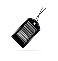 tag label code black vector image