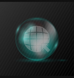 transparent sphere with earth and arrow symbols vector image