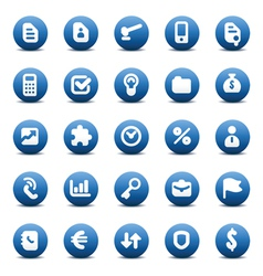Icons for business metaphors vector