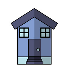 House exterior isolated icon vector