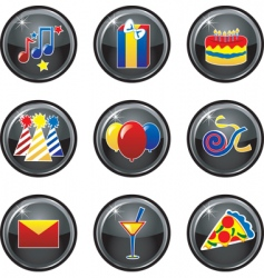 party icon buttons vector image