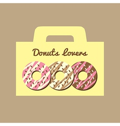 Donuts lovers box vector