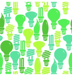 Seamless pattern with energy saving lamps vector