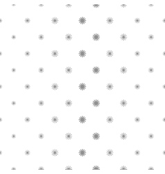 Simple stars repeating pattern vector