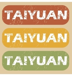 Vintage taiyuan stamp set vector